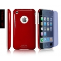 SGP Ultra Thin High Gloss Dente Red (with Crystal Film) for iPhone 3G/3GS